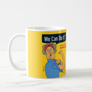 We can do it (Rosie the riveter) cartoon old lady Coffee Mug