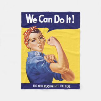 We Can Do It! Rosie the Riveter Fleece Blanket