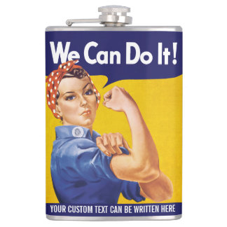 We Can Do It! Rosie the Riveter Hip Flask