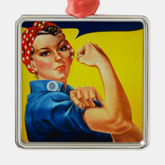 We Can Do It Rosie the Riveter Metal Ornament