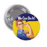 We Can Do It! Rosie the Riveter Pinback Button