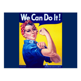 We Can Do It Rosie the Riveter Postcard