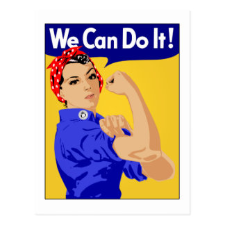 We Can Do It - Rosie the Riveter Postcard