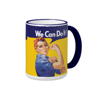 We Can Do It! Rosie the Riveter Ringer Mug