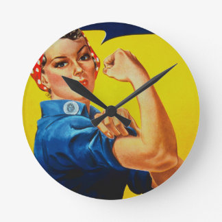 We Can Do It Rosie the Riveter Round Clock