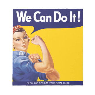 We Can Do It! Rosie the Riveter Scratch Pad