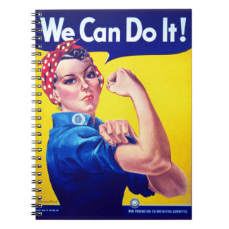 We Can Do It Rosie the Riveter Spiral Notebook