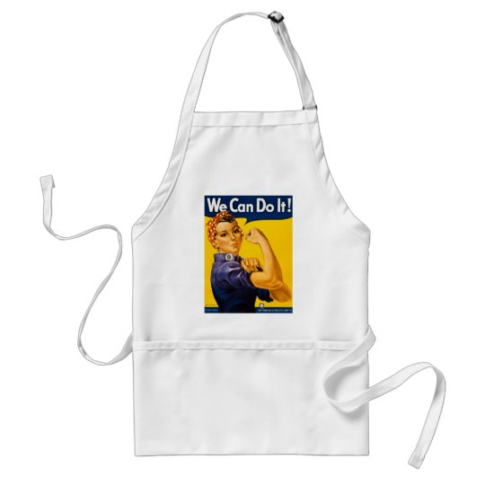 We Can Do It! Rosie the Riveter Vintage WW2 Adult Apron