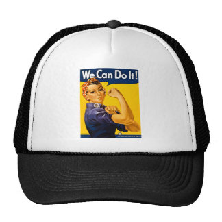 We Can Do It! Rosie the Riveter Vintage WW2 Trucker Hats