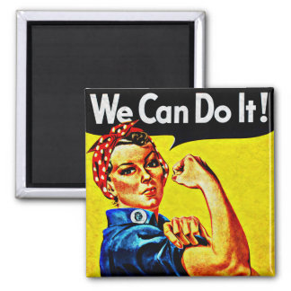 We can do it! Rosie The Riveter Vintage WW2 Magnet