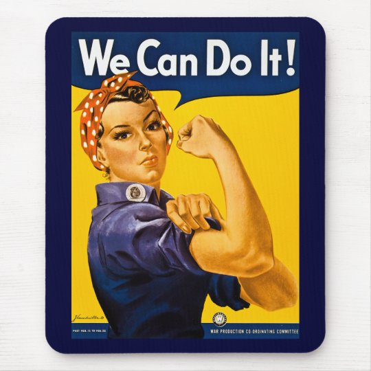 We Can Do It! Rosie the Riveter Vintage WW2 Mouse Pad
