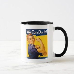 We Can Do It! Rosie the Riveter Vintage WW2 Mug