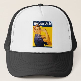 We Can Do It! Rosie the Riveter Vintage WW2 Trucker Hat