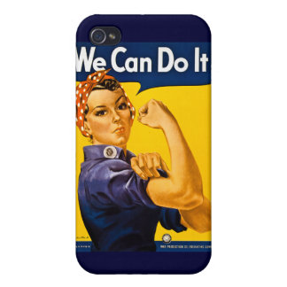 We Can Do It! Rosie the Riveter Vintage WWII iPhone 4 Covers