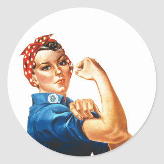 We Can Do It Rosie the Riveter Women Power Classic Round Sticker
