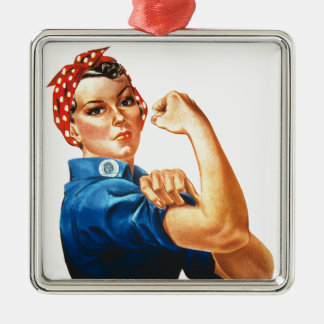 We Can Do It Rosie the Riveter Women Power Metal Ornament