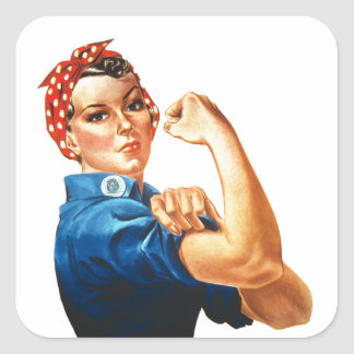 We Can Do It Rosie the Riveter Women Power Square Sticker