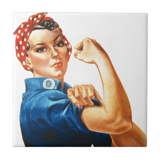 We Can Do It Rosie the Riveter Women Power Tile