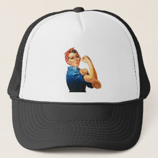 We Can Do It Rosie the Riveter Women Power Trucker Hat