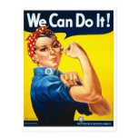 We Can Do It Rosie the Riveter World War II Post Cards