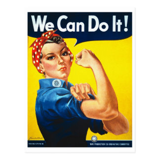 We Can Do It Rosie the Riveter World War II Postcard