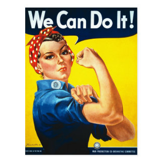 We Can Do It Rosie the Riveter WWII Postcard