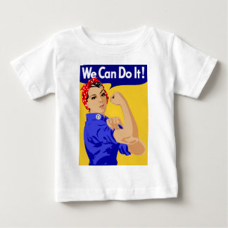 We Can Do It! Rosie The Riveter WWII Poster Baby T-Shirt