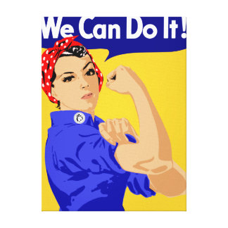 We Can Do It! Rosie The Riveter WWII Poster Stretched Canvas Prints