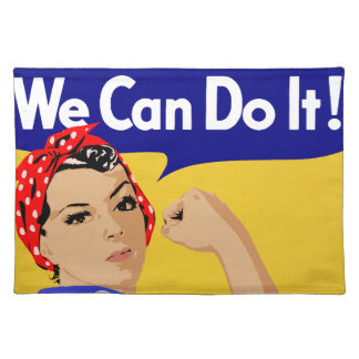 We Can Do It! Rosie The Riveter WWII Poster Cloth Place Mat