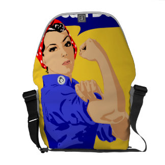 We Can Do It! Rosie The Riveter WWII Poster Courier Bag