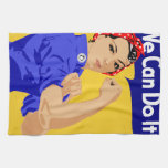 We Can Do It! Rosie The Riveter WWII Poster Kitchen Towel