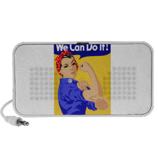 We Can Do It! Rosie The Riveter WWII Poster Mini Speaker