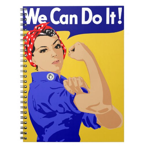 We Can Do It! Rosie The Riveter WWII Poster Notebook