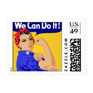 We Can Do It! Rosie The Riveter WWII Poster Postage Stamps