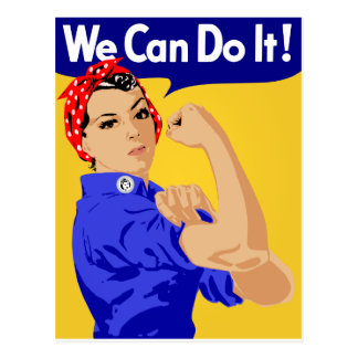 We Can Do It! Rosie The Riveter WWII Poster Post Card