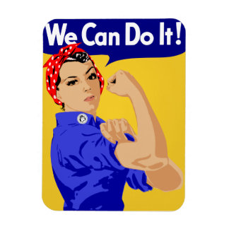 We Can Do It! Rosie The Riveter WWII Poster Flexible Magnets