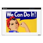 "We Can Do It! Rosie The Riveter WWII Poster 15"" Laptop Decal"