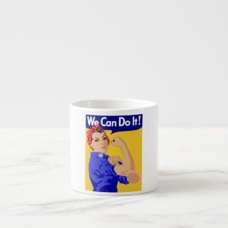 We Can Do It Rosie The Riveter WWII Poster Espresso Mug