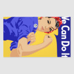 We Can Do It! Rosie The Riveter WWII Poster Rectangular Stickers