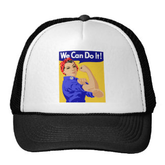 We Can Do It! Rosie The Riveter WWII Poster Trucker Hat