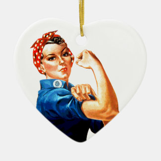 We Can Do It Rosie the Riveter WWII Propaganda Ceramic Ornament