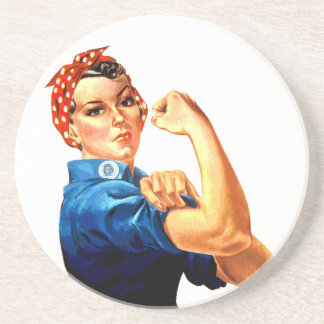 We Can Do It Rosie the Riveter WWII Propaganda Coaster
