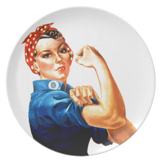 We Can Do It Rosie the Riveter WWII Propaganda Dinner Plate