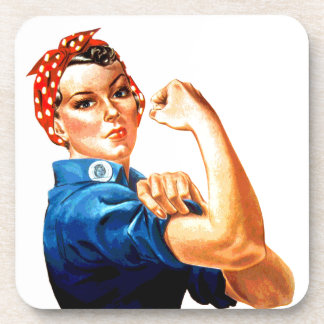 We Can Do It Rosie the Riveter WWII Propaganda Drink Coaster