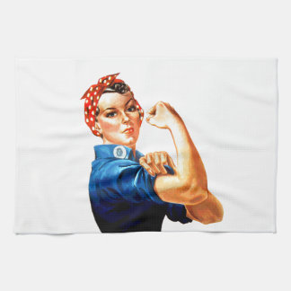 We Can Do It Rosie the Riveter WWII Propaganda Hand Towel