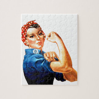 We Can Do It Rosie the Riveter WWII Propaganda Jigsaw Puzzle