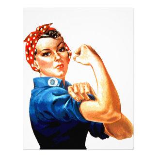 We Can Do It Rosie the Riveter WWII Propaganda Letterhead