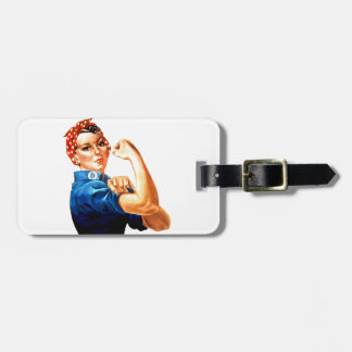 We Can Do It Rosie the Riveter WWII Propaganda Luggage Tag