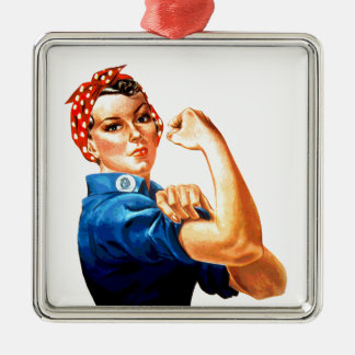 We Can Do It Rosie the Riveter WWII Propaganda Metal Ornament
