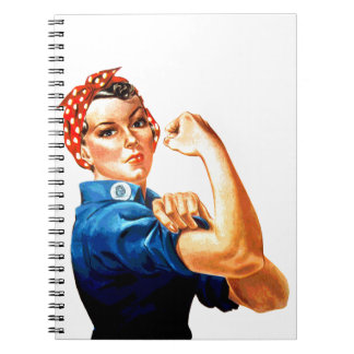 We Can Do It Rosie the Riveter WWII Propaganda Notebook